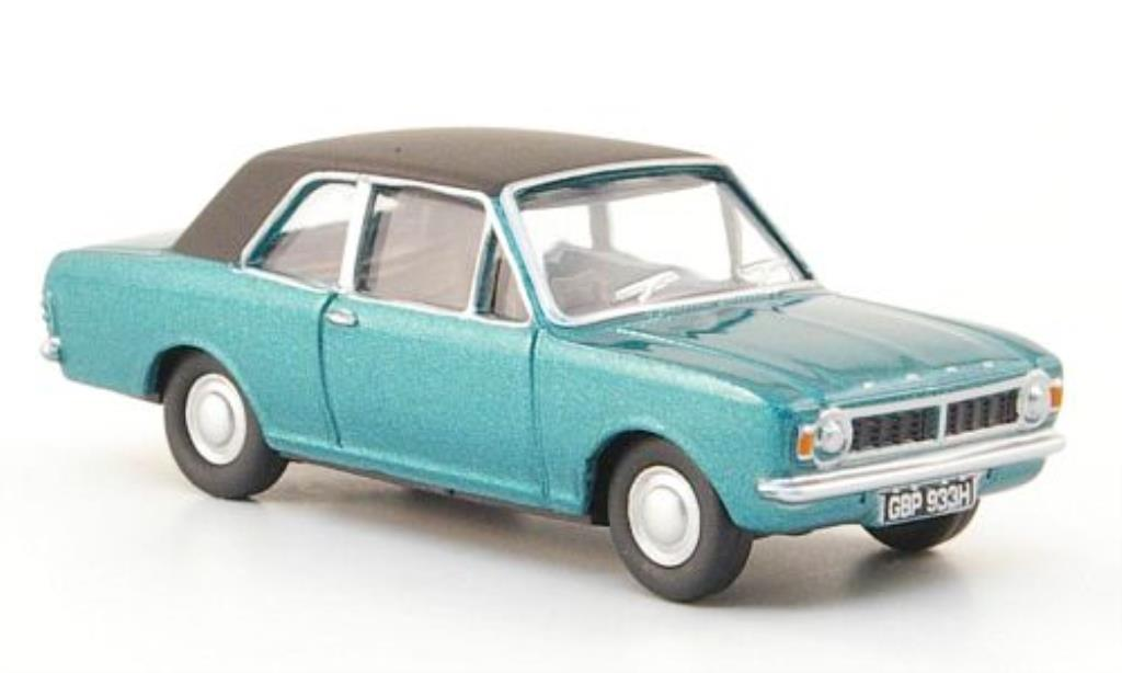 Ford Cortina 1/76 Oxford MKII verte/noire miniature