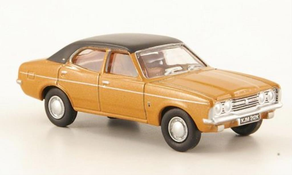 Ford Cortina 1/76 Oxford MkIII GXL marron/noire miniature