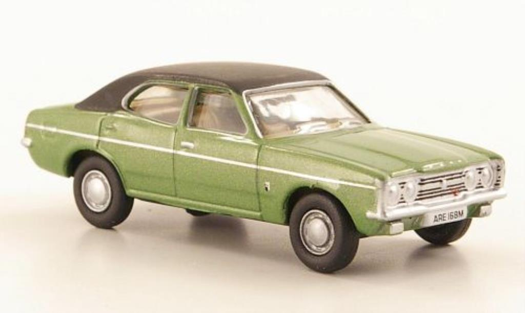 Ford Cortina 1/76 Oxford MkIII verte/noire 1977 miniature