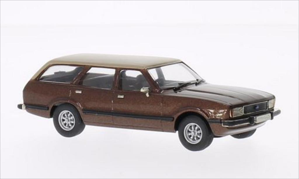 Ford Cortina 1/43 Brooklin MKIV Ghia metallic-marron/beige miniature