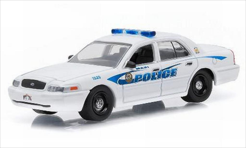Ford Crown 1/64 Greenlight Victoria Maui Police 2008 miniature