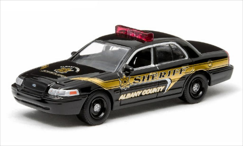 ford crown victoria police interceptor 2009 greenlight modellauto 1 64 kaufen verkauf. Black Bedroom Furniture Sets. Home Design Ideas