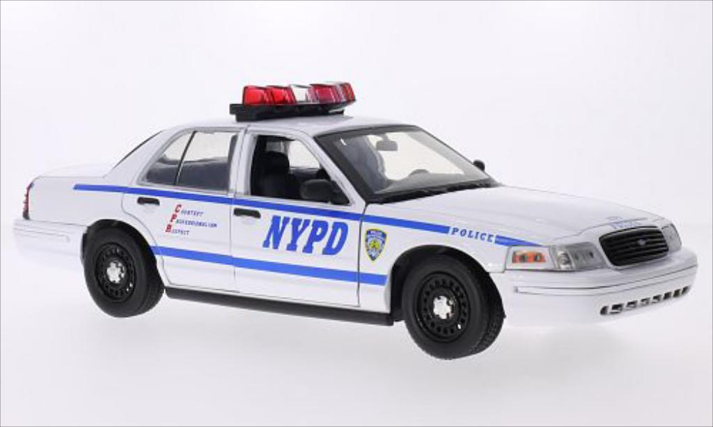 Ford Crown 1/18 Greenlight Victoria Police Interceptor NYPD 2001 miniature