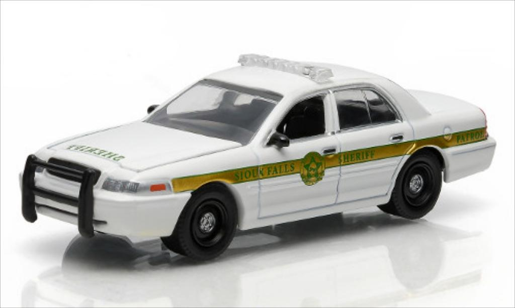 ford crown victoria police interceptor sioux falls sheriff supernatural greenlight modellauto 1. Black Bedroom Furniture Sets. Home Design Ideas