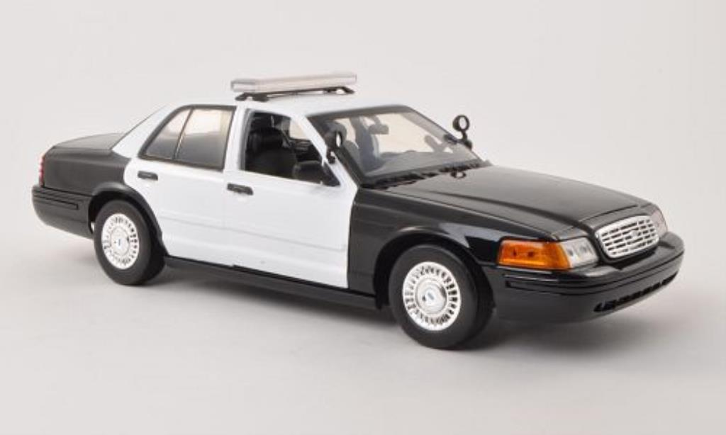 Ford Crown 1/18 Motormax Victoria Police Interceptor blanche/noire Polizei (USA) miniature