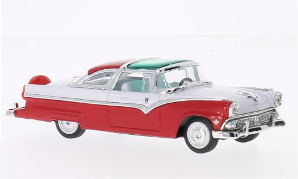 ford crown victoria rot weiss 1955 mcw modellauto 1 43. Black Bedroom Furniture Sets. Home Design Ideas