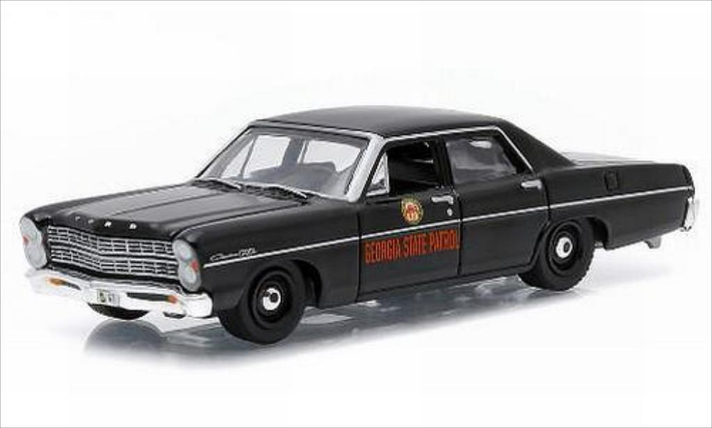 Ford Custom 1/64 Greenlight Georgia State Patrol 1967 miniature