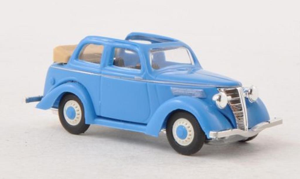 Ford Eifel 1/87 Busch Cabriolimousine bleu miniature
