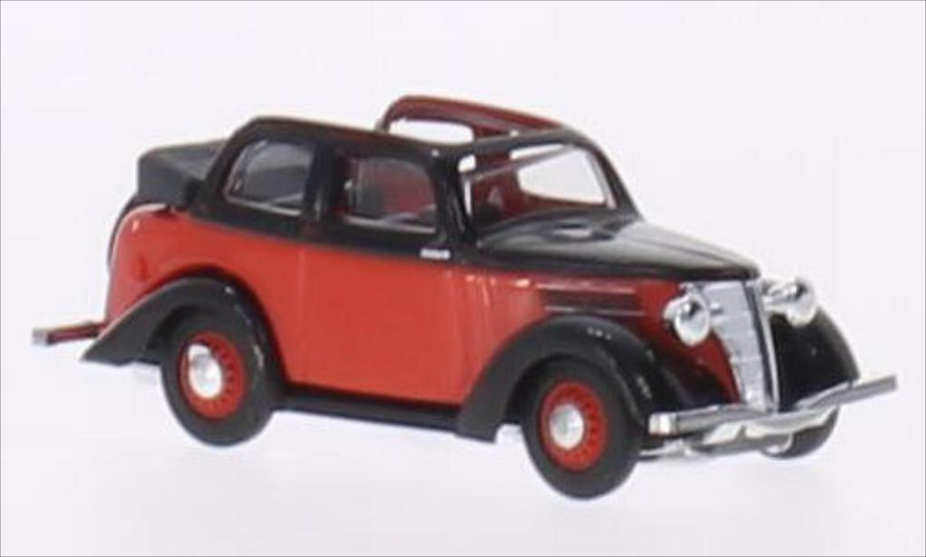 Ford Eifel 1/87 Busch Cabriolimousine rouge/noire miniature