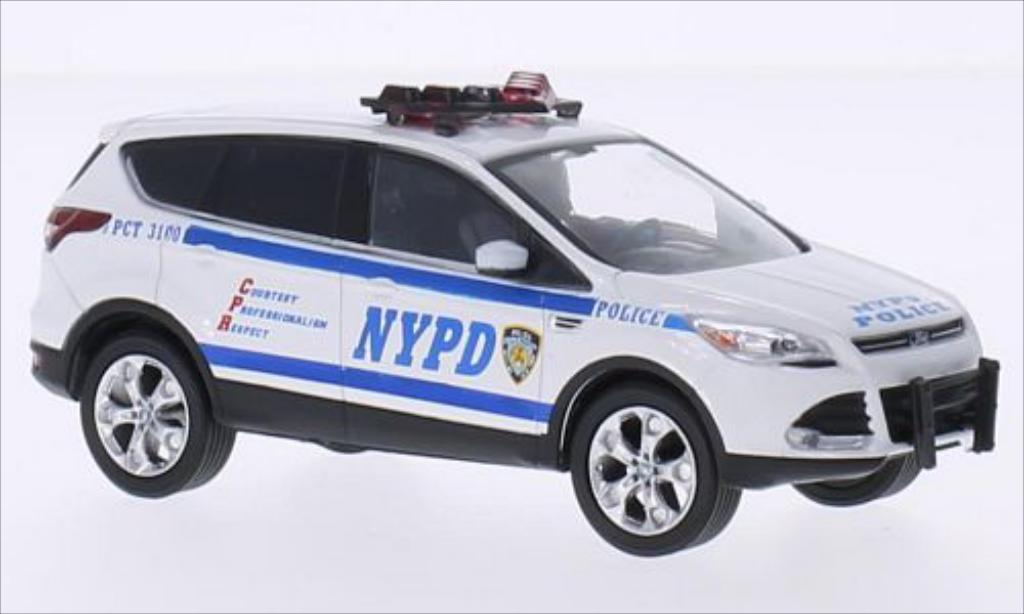 Ford Escape 1/43 Greenlight (Kuga II) blanche NYPD - New York Police 2014 miniature