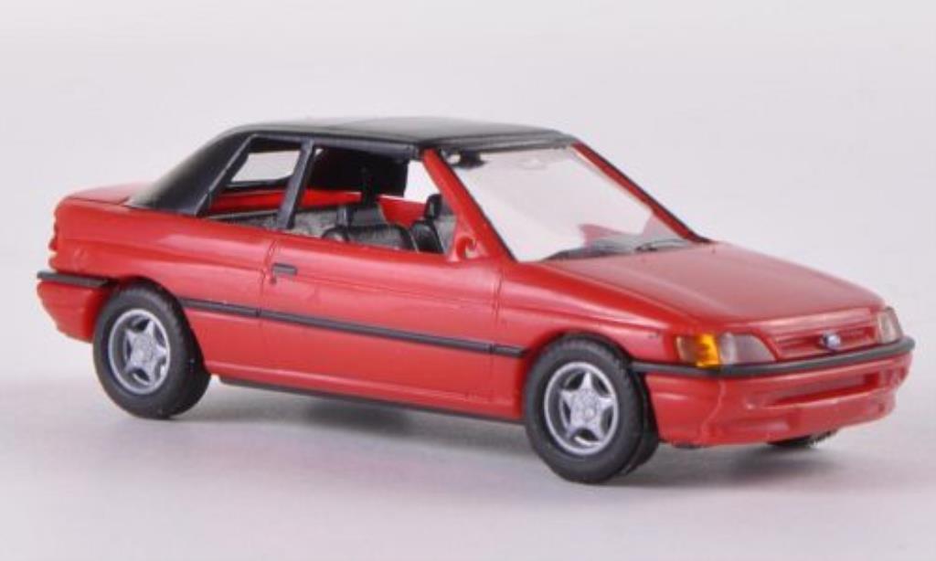 Ford Escort 1/87 Busch Cabrio geschlossen rouge 1991 miniature