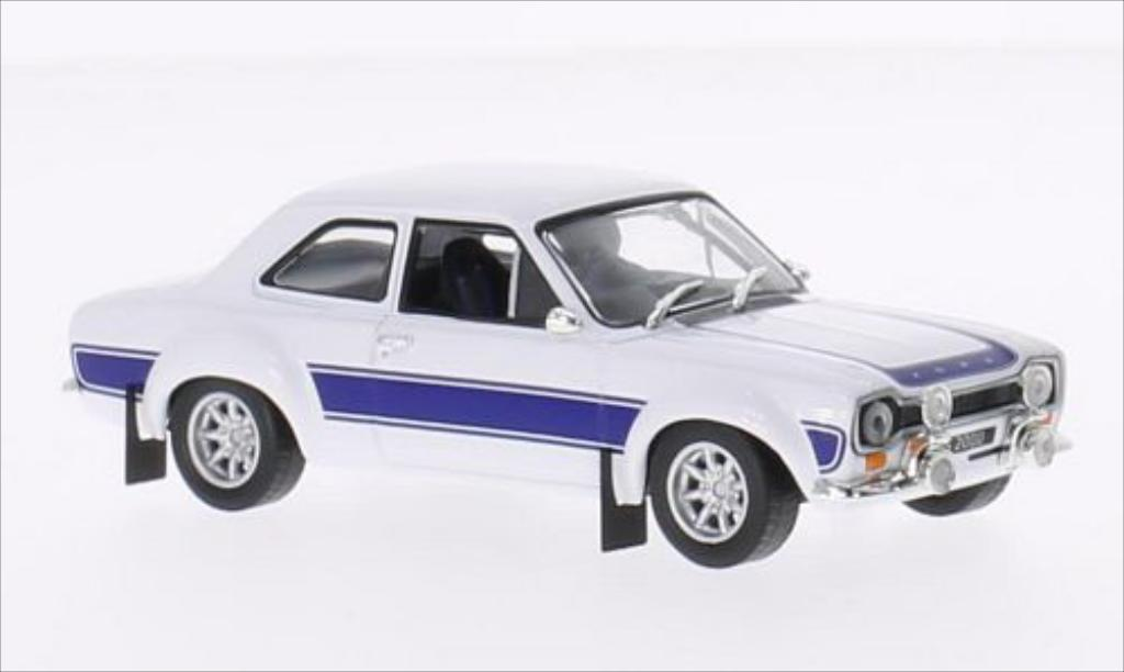 Ford Escort 1/43 Greenlight I 2000 blanche/bleu RHD 1974 miniature