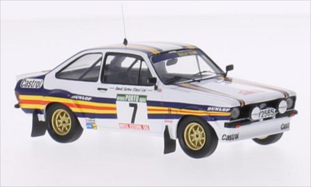 Ford Escort 1/43 Trofeu MK II No.7 rougehmans Rallye WM Rallye Portugal 1980 miniature