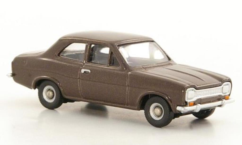 Ford Escort 1/76 Corgi MkI bronze diecast model cars