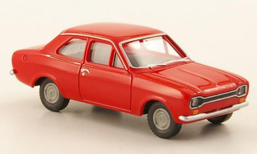 Ford Escort 1/87 Wiking MKI rouge