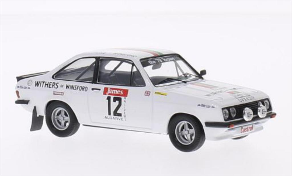 Ford Escort 1/43 Trofeu MKII  2000 No.12 Castrol Rallye WM Rallye Algarve 1978 /K.Wood miniature