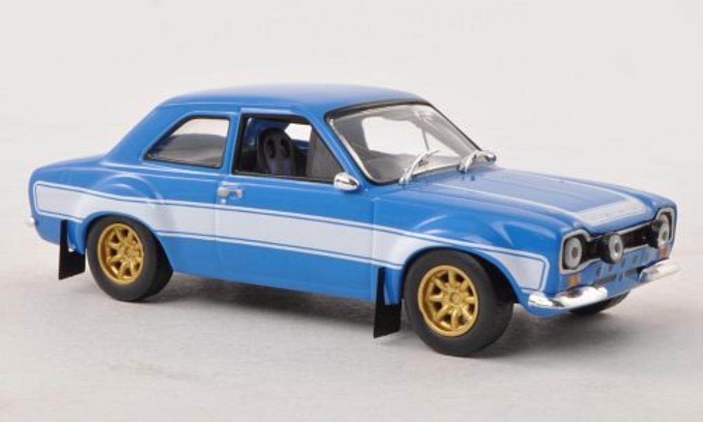 Ford Escort 1/43 Greenlight 2000 MkI bleu/blanche Fast & Furious 1974