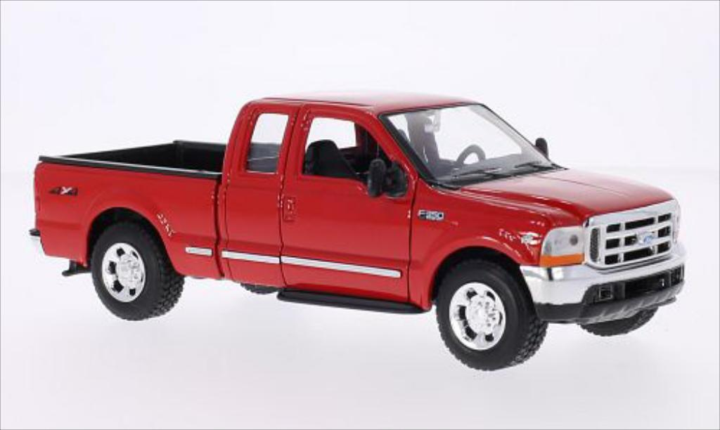 Ford F-350 1/24 Welly XLT Super Duty rouge miniature