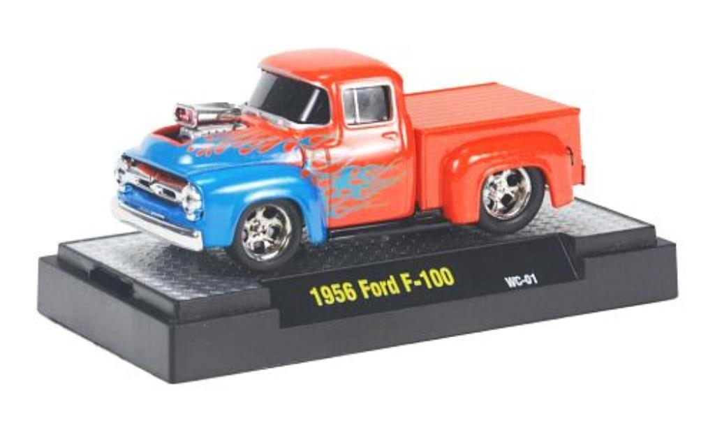 ford f100 orange mit flammendecor 1956 mcw modellauto 1 64 kaufen verkauf modellauto online. Black Bedroom Furniture Sets. Home Design Ideas