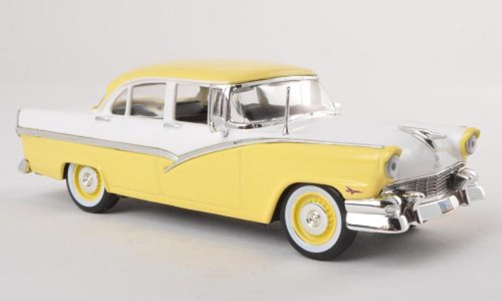 Ford Fairline 1/43 WhiteBox jaune/blanche 1956 miniature