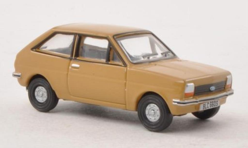 Ford Fiesta 1/76 Oxford MkI marron miniature