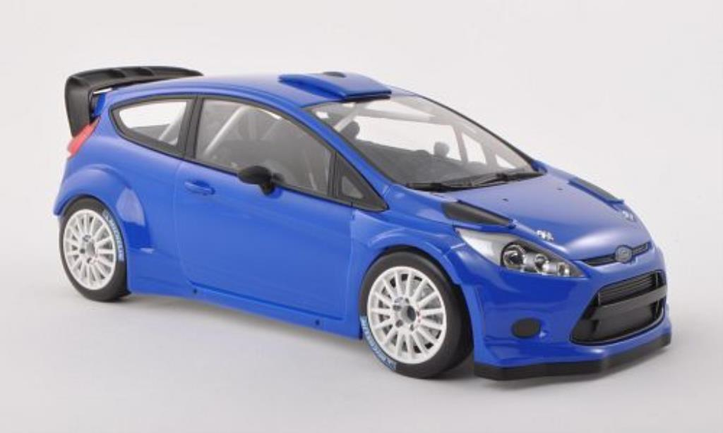 Ford Fiesta 1/18 Minichamps WRC bleu Plain Body Version 2011 diecast model cars