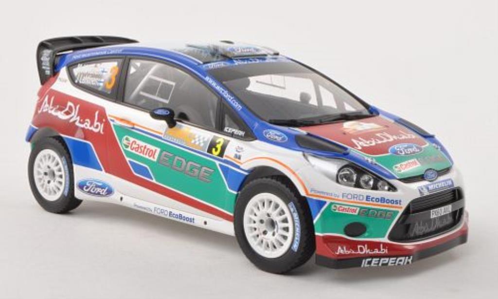 Ford Fiesta 1/18 Minichamps  WRC No.3 Ford Abu Dhabi Rally Australien 2011 /J.Lehtinen miniature