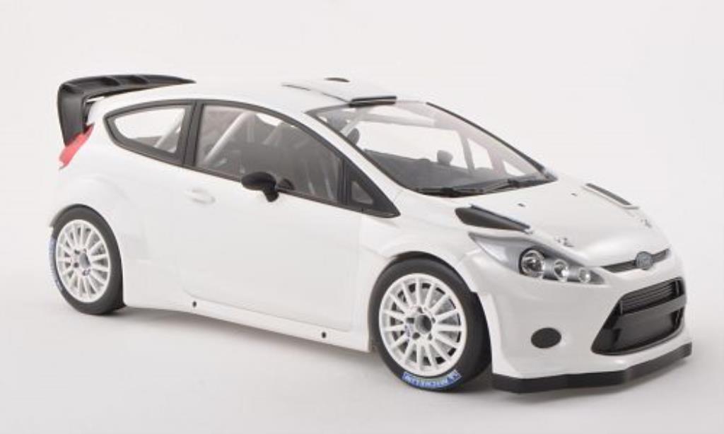 Ford Fiesta 1/18 Minichamps WRC Street blanche 2011 miniature