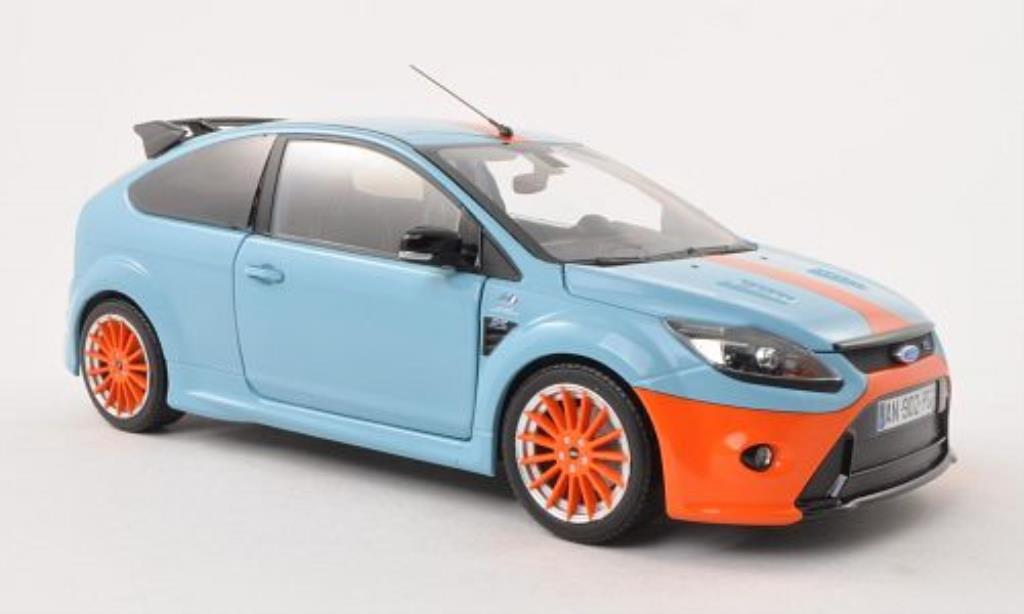 Ford Focus RS 1/18 Minichamps Le Mans Classic Edition bleu/orange 2010 miniature