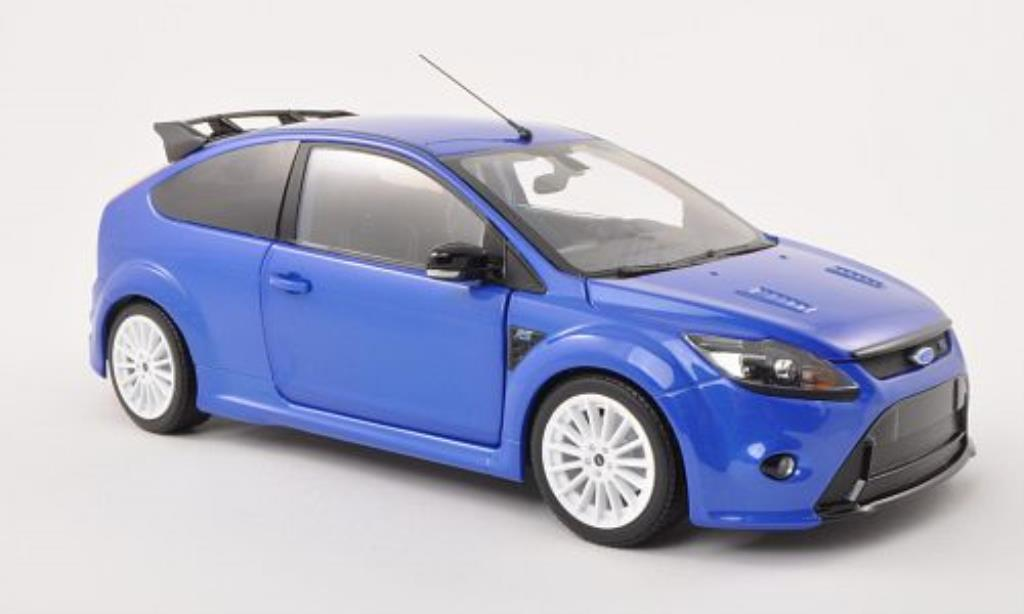 Ford Focus RS blu 2010 Minichamps. Ford Focus RS blu 2010 modellini 1/18