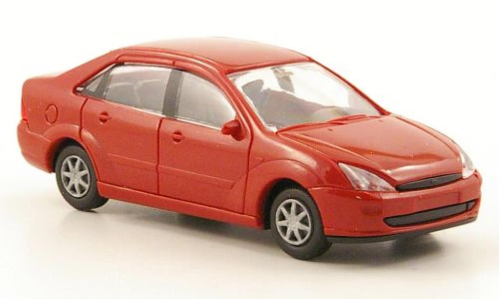 Ford Focus 1/87 Rietze Stufenheck (C170) rouge 2001 miniature