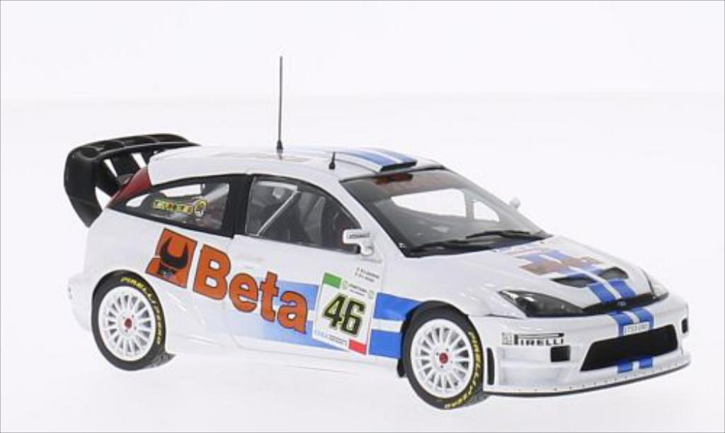 Ford Focus 1/43 Minichamps WRC No.46 Beta Rallye Monza 2007 miniature