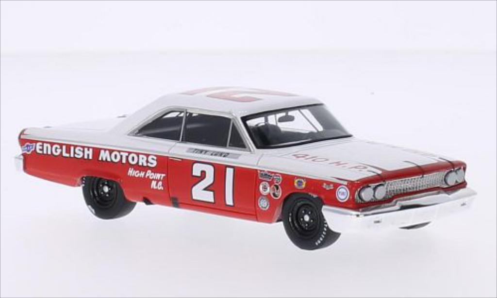 Miniature Ford Galaxy No.21 English Motors Daytona 500 1963 Spark. Ford Galaxy No.21 English Motors Daytona 500 1963 miniature 1/43