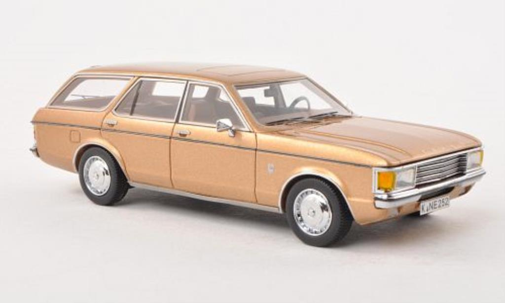 Ford Granada 1/43 Neo MK I Turnier beige 1972 miniature