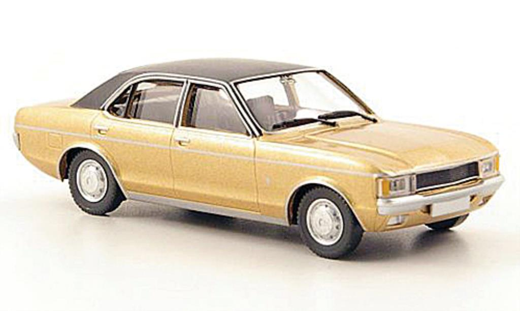 Ford Granada 1/87 Wiking MKI gold/noire miniature
