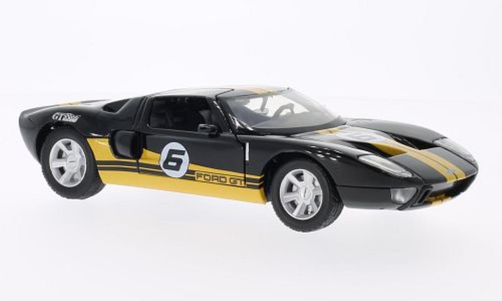 Ford GT Concept 1/24 Motormax No.6 noire/jaune miniature