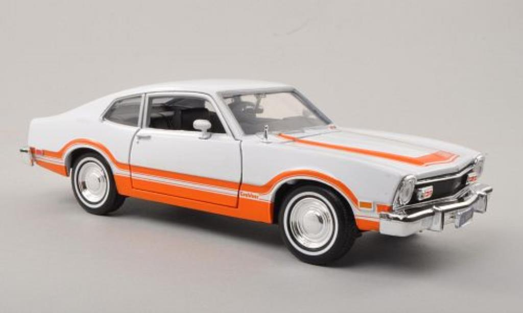 Ford Maverick 1/24 Motormax Grabber blanche/orange 1974 miniature
