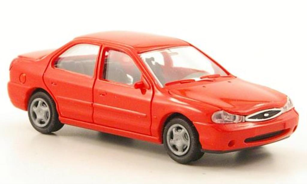 Ford Mondeo 1/87 Rietze MKII Stufenheck rouge 1997 miniature