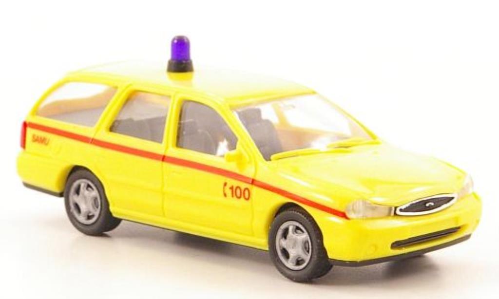Ford Mondeo 1/87 Rietze MkII Turnier SAMU (SM-B) - Notarzt miniature