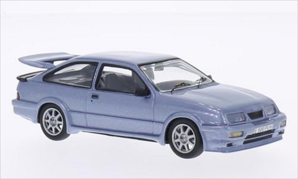 Ford Sierra Cosworth 1/43 WhiteBox 500 metallise bleu RHD miniature
