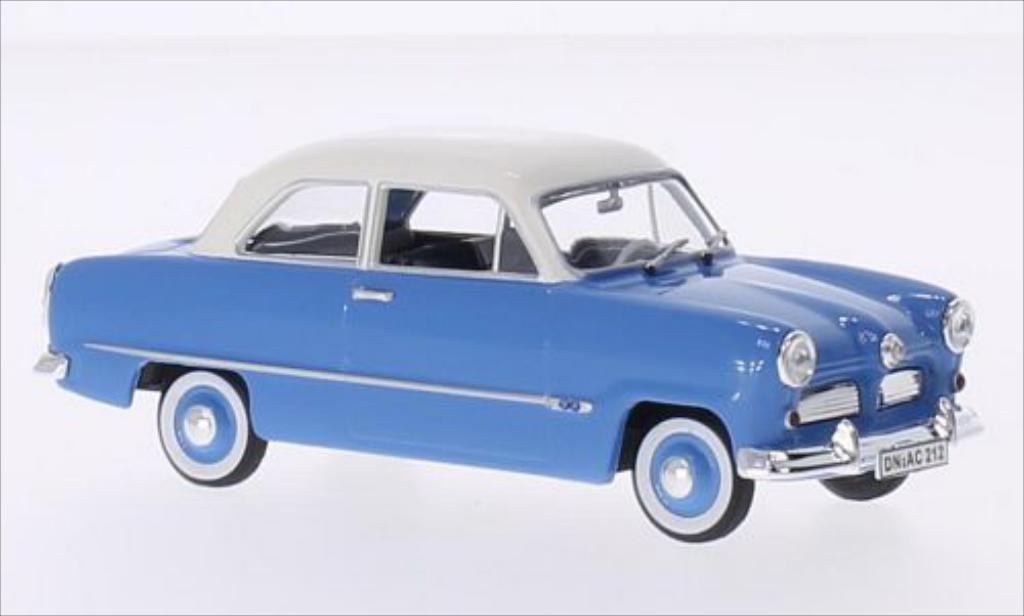 Ford Taunus 1/43 Norev 12M bleu/blanche 1954 miniature