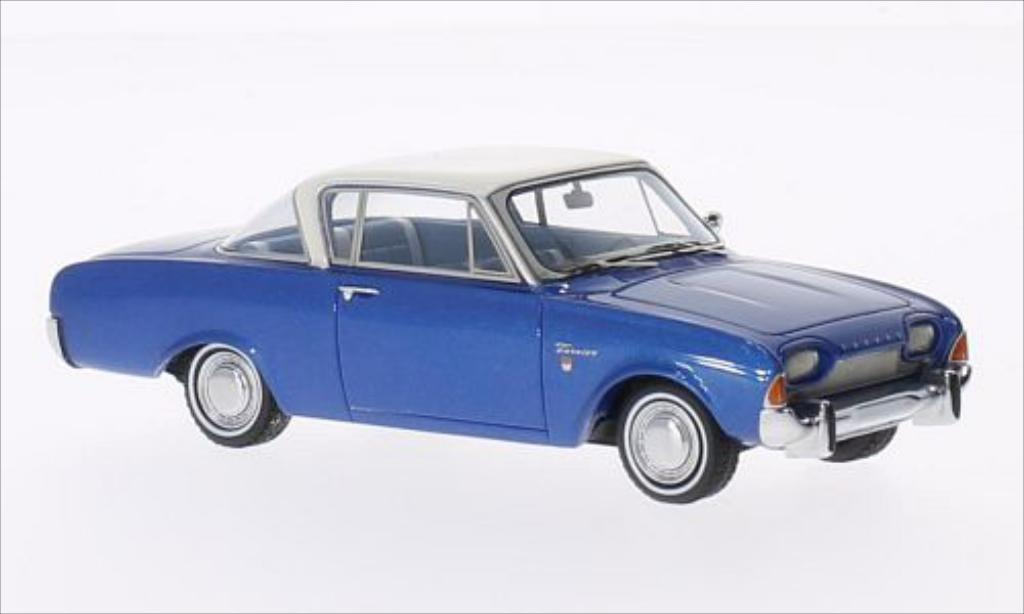 Ford Taunus 1/43 Neo 17M P3 Coupe metallise bleu/blanche 1962 miniature