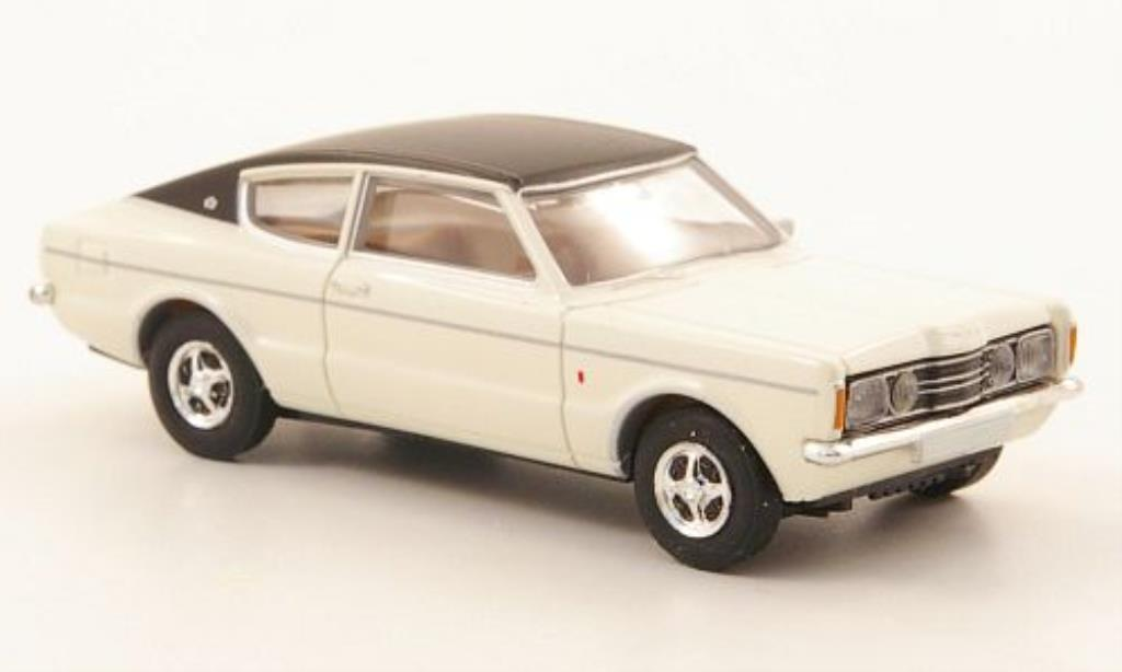 ford taunus miniature coupe gxl blanche noire brekina 1 87 voiture. Black Bedroom Furniture Sets. Home Design Ideas