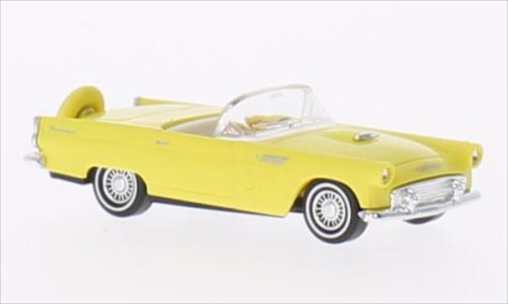 Ford Thunderbird 1/87 Busch Convertible jaune 1956 miniature