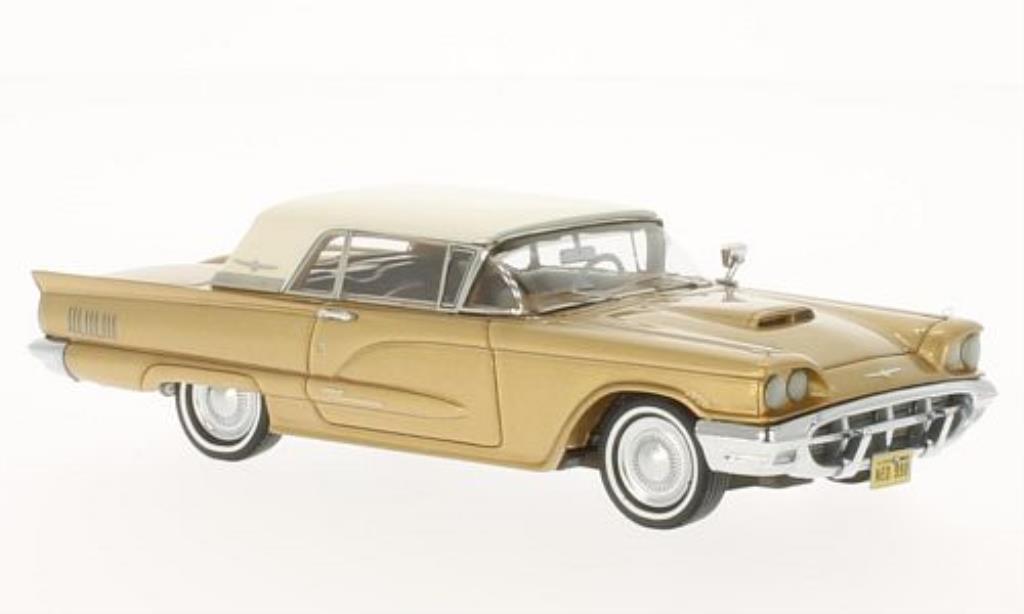 Ford Thunderbird 1/43 Neo Hardtop gold/blanche 1960 miniature