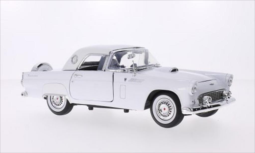 Ford Thunderbird 1/18 Motormax Hardtop blanche 1956