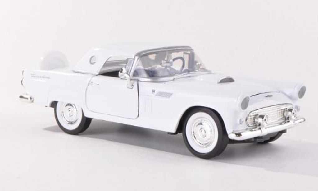 Ford Thunderbird 1/24 Motormax blanche 1956 miniature