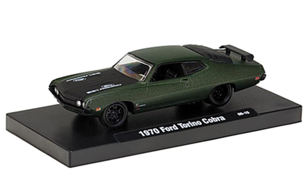 ford torino cobra grun mattschwarz 1970 mcw modellauto 1. Black Bedroom Furniture Sets. Home Design Ideas
