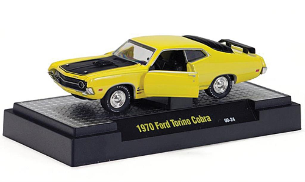 ford torino cobra gelb schwarz 1970 mcw modellauto 1 64. Black Bedroom Furniture Sets. Home Design Ideas
