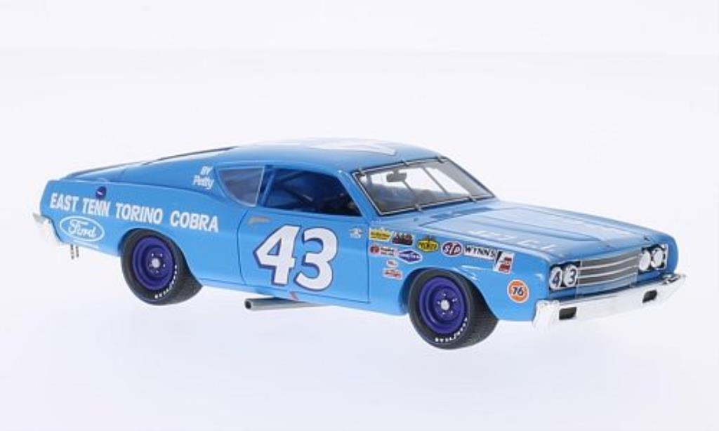 Ford Torino 1/43 Spark Cobra No.43 Motor Trend 500 1969 diecast model cars